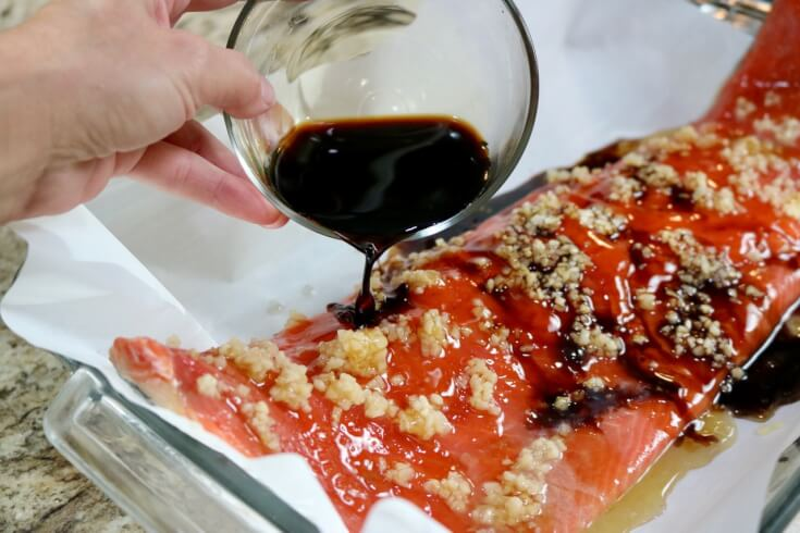 Pour on the soy for this Easy recipe for Honey and Soy wild Alaska Salmon