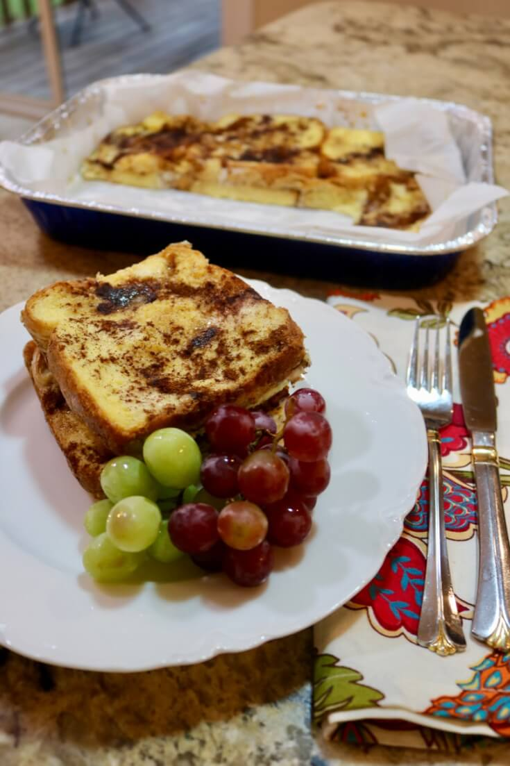 The Perfect Back to School Breakfast - Make-Ahead Easy Recipe for French Toast Bake.