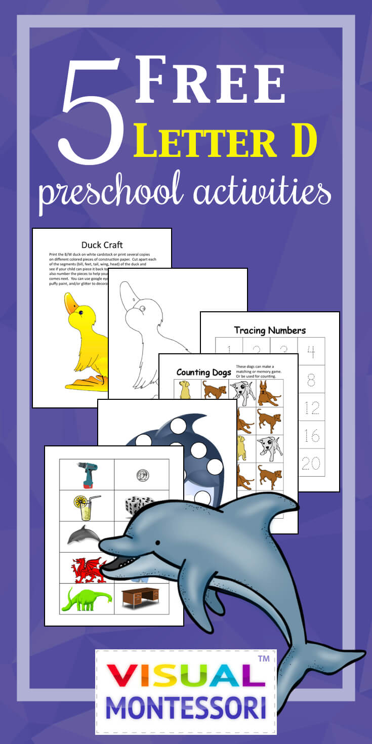 5 Free Preschool Alphabet Letter D Activities