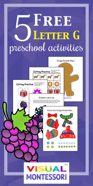 5 free preschool alphabet letter g activities