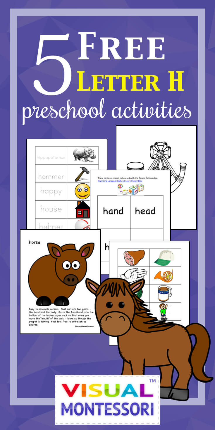 5 Free Preschool Alphabet Letter H Activities