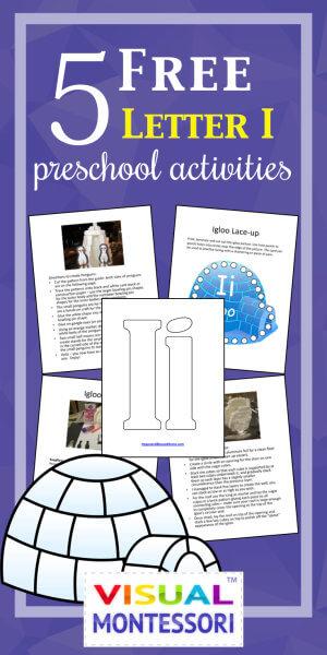 5 Free Preschool Alphabet Letter I Activities
