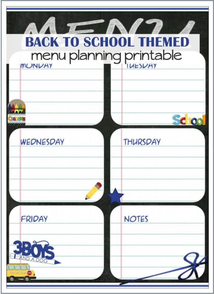 Back-to-School-Menu-Planning-Printable