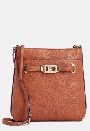 JustFab Brown Crossover Bag