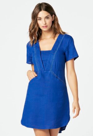JustFab Blue Linen Dress
