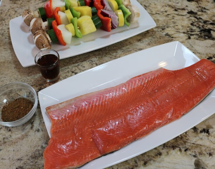 Ingredients for an Easy Recipe for wild Alaska salmon with Tequila Lime Glaze
