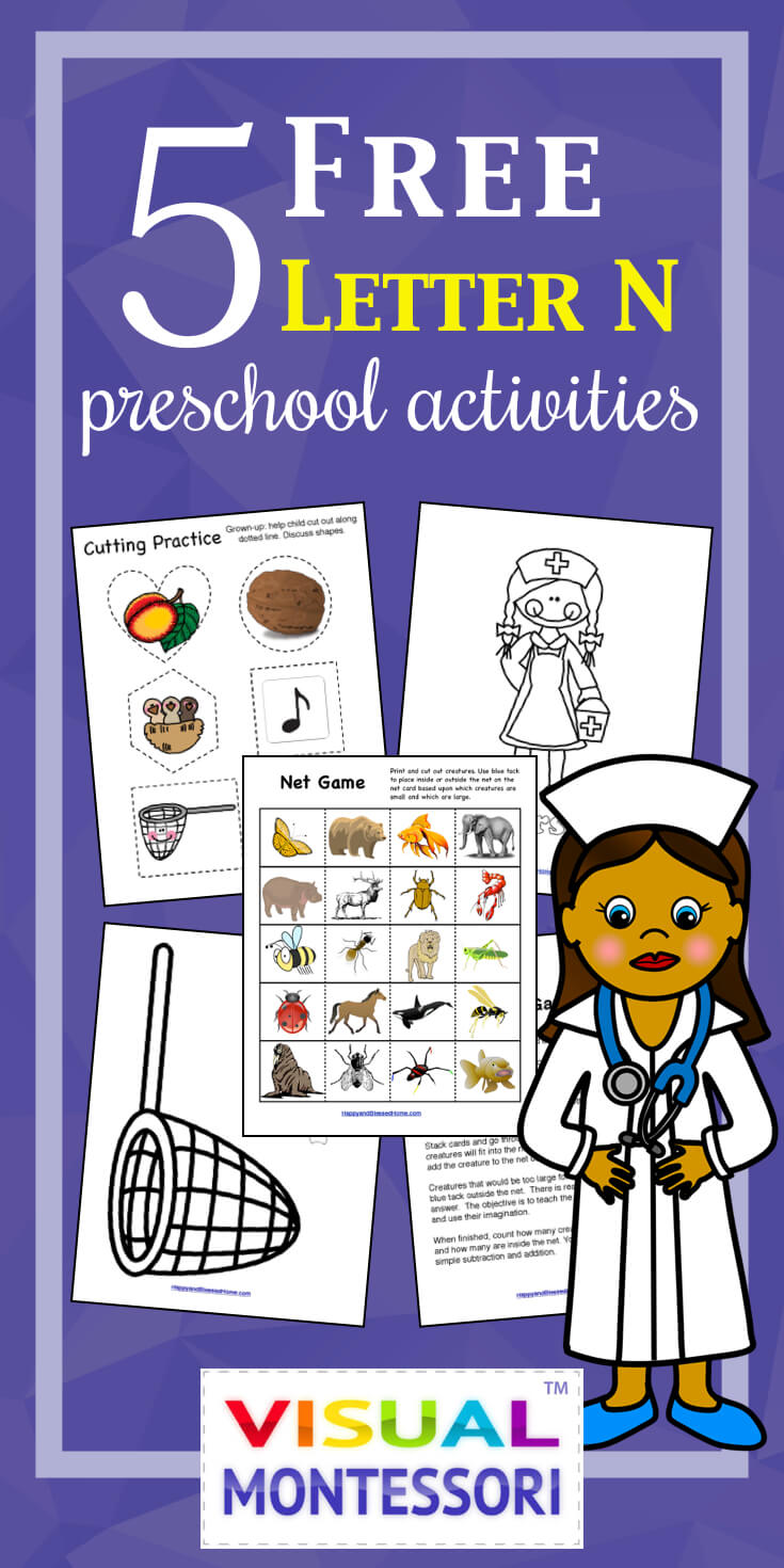 Workbooks letter n worksheets for preschoolers : 5 FREE Preschool Alphabet Letter N Worksheets - Happy and Blessed Home