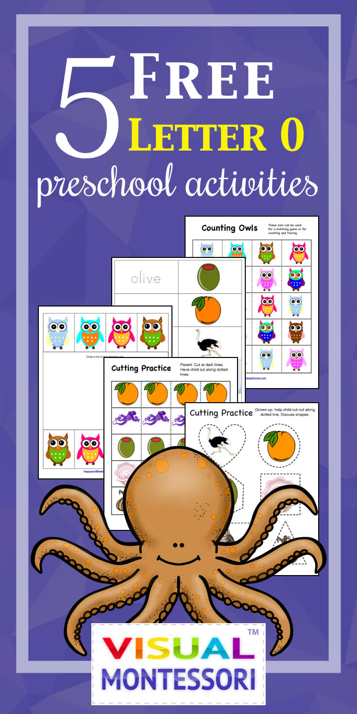 5 FREE Letter O Preschool Worksheets from HappyandBlessedHome.com