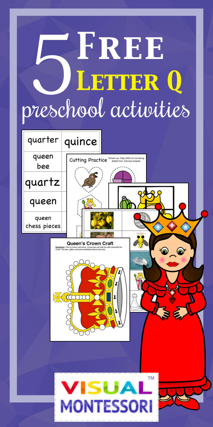 5 FREE Letter Q Preschool Worksheets from HappyandBlessedHome.com