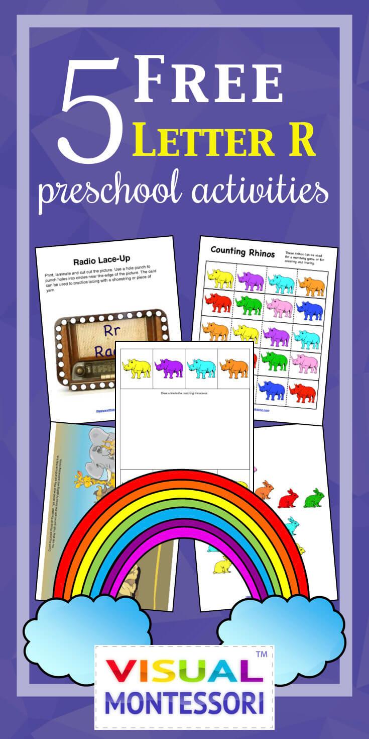5 Free Letter R Preschool Activities