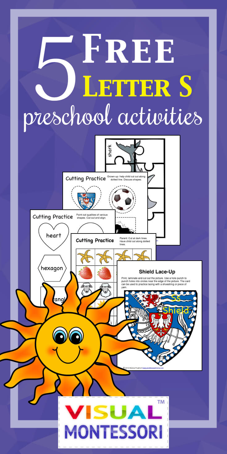 5 FREE Letter S Preschool Worksheets from HappyandBlessedHome.com