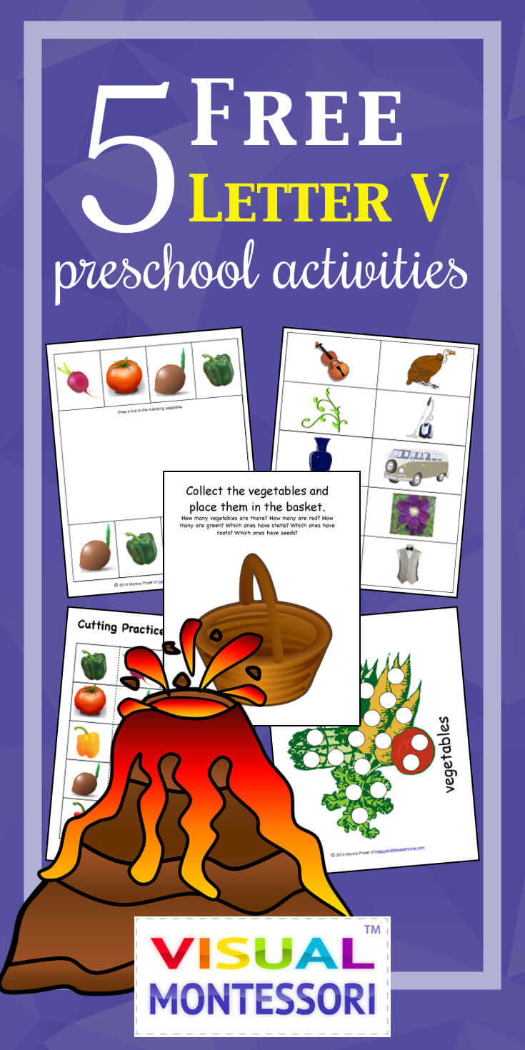 5 FREE Letter V Preschool Worksheets from HappyandBlessedHome.com