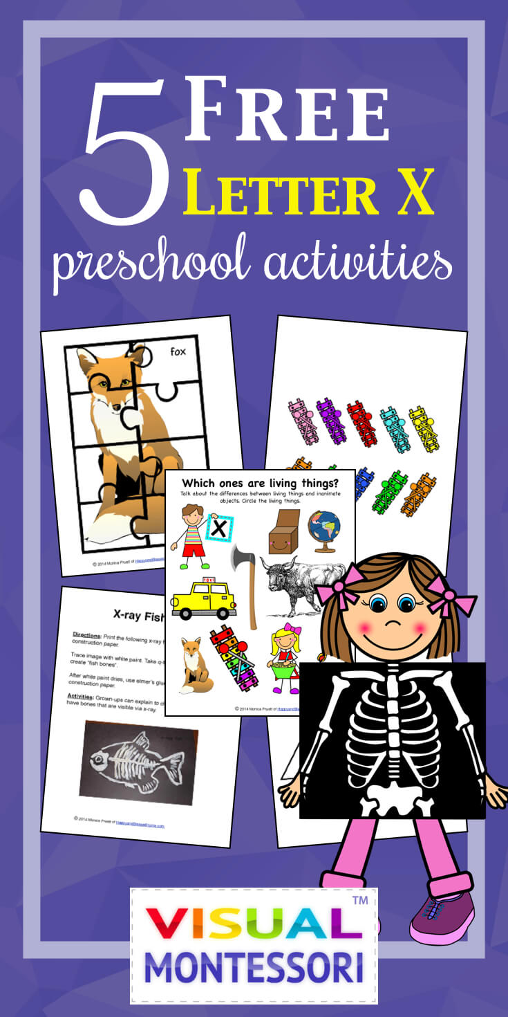 5 FREE Letter X Preschool Worksheets from HappyandBlessedHome.com