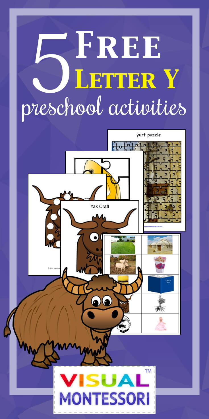 5 FREE Letter Y Preschool Worksheets from HappyandBlessedHome.com