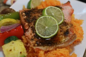 Perfectly proportioned Easy Recipe for wild Alaska salmon with Tequila Lime Glaze