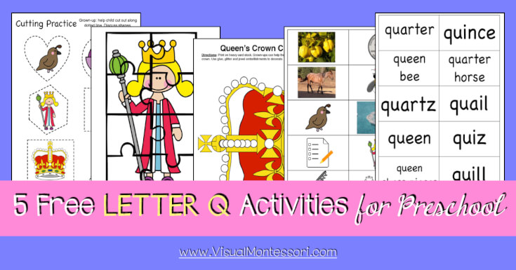 5 FREE LETTER Activities for Preschool Alphabet Letter Q