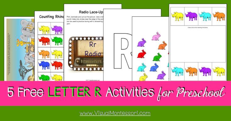 5 FREE LETTER Activities for Preschool Alphabet Letter R