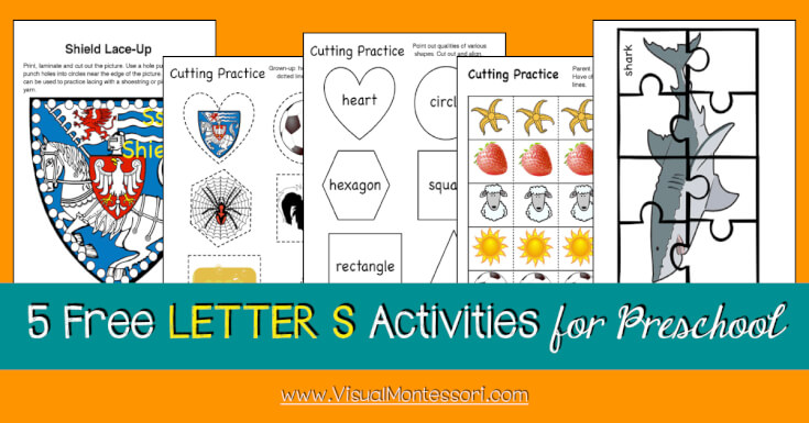 5 FREE LETTER Activities for Preschool Alphabet Letter S