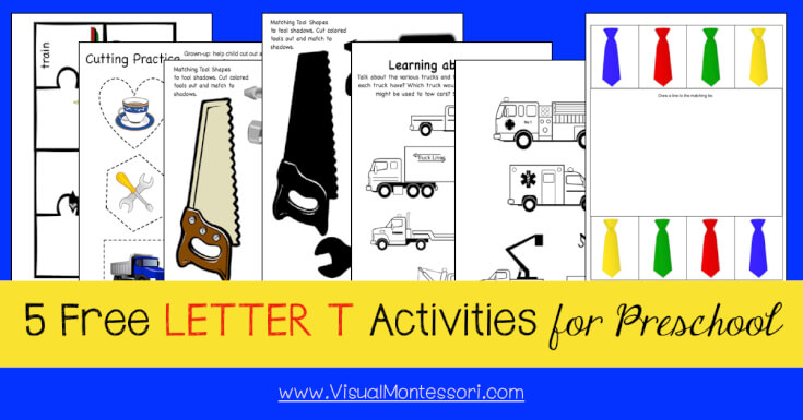 5 FREE LETTER Activities for Preschool Alphabet Letter T