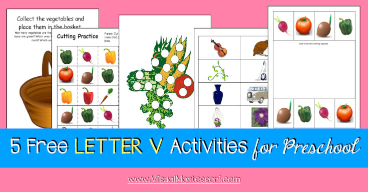 5 FREE LETTER Activities for Preschool Alphabet Letter V