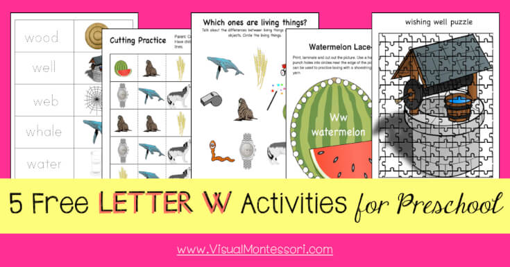 5 FREE LETTER Activities for Preschool Alphabet Letter W