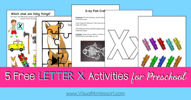 5 FREE LETTER Activities for Preschool Alphabet Letter X