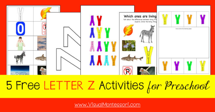 5 FREE LETTER Activities for Preschool Alphabet Letter Z