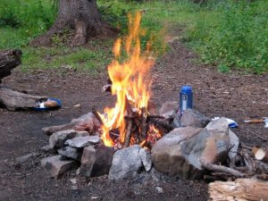 7 Essentials for Camping with Kids - Campfire Photo Copyright 2017 HappyandBlessedHome.com