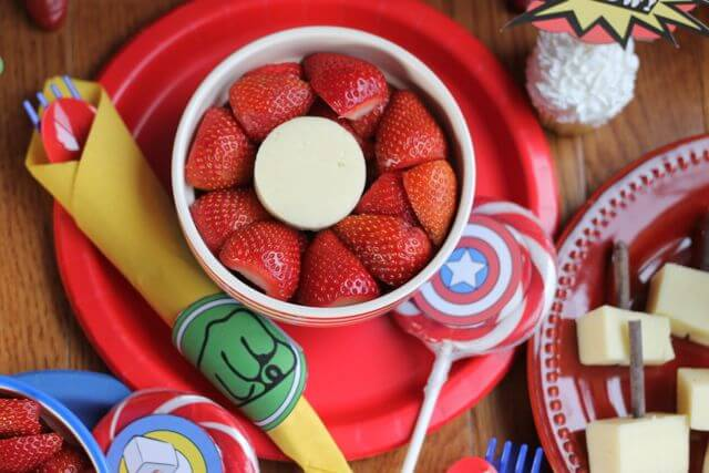 Strawberry Shield for Marvels Avengers Costume Party Snack