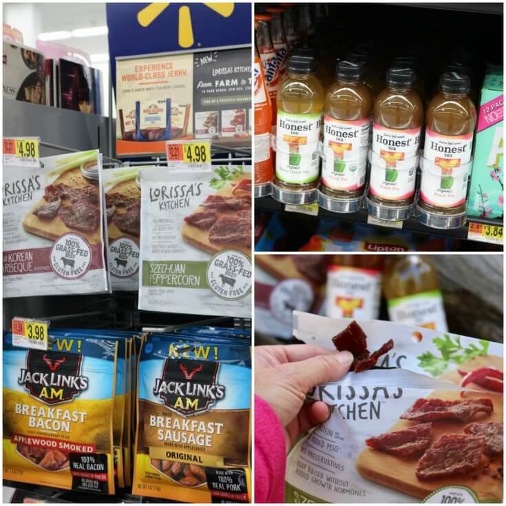 You can find Lorissa's and Honest Tea at Walmart - look in the checkout aisle