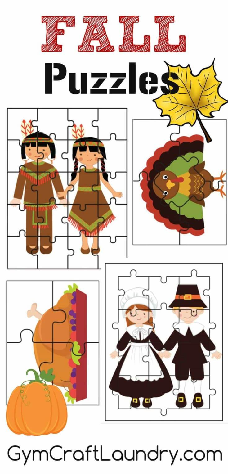 Thanksgiving Kids Activities - Fall-Thanksgiving-Puzzle-Activites