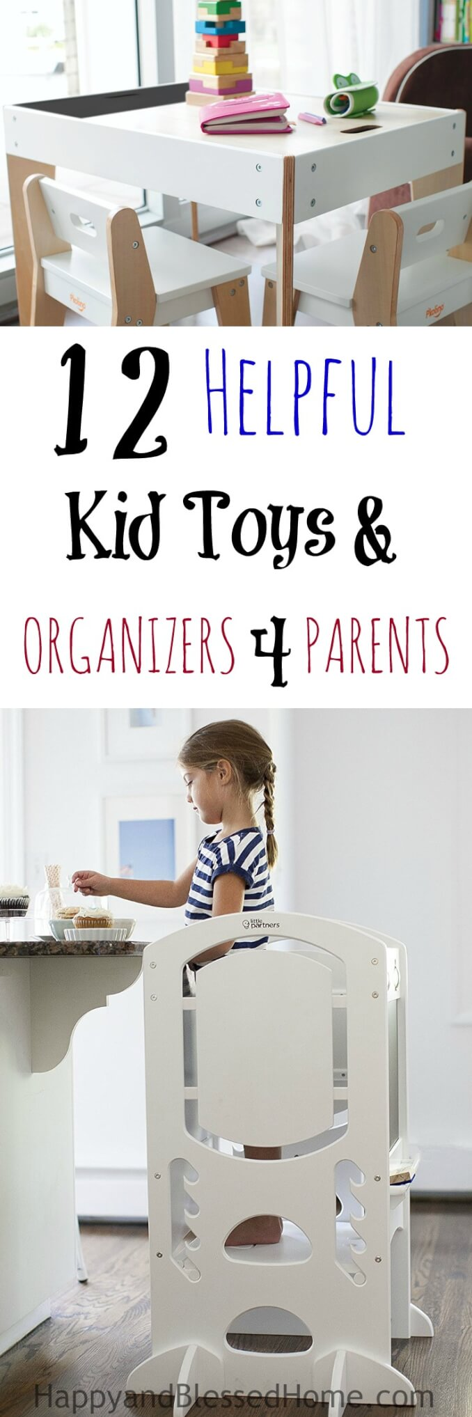 Parents, stop the mess. This list of 12 Helpful Kid Toys and Organizers for Parents is packed full of helpful tips. Plus toys to keep kids away from the TV.