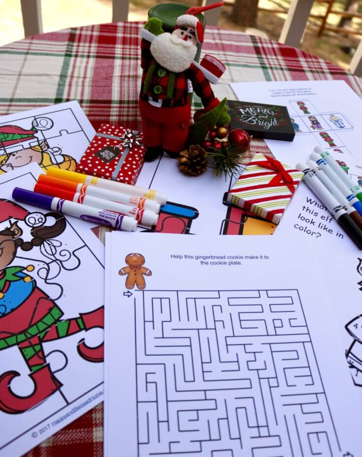 12 FREE Christmas Activities Printable Pack for Kids Ages 4-6