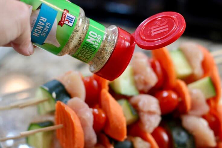 Sprinkle on McCormick Garlic Ranch Seasoning for extra flavor