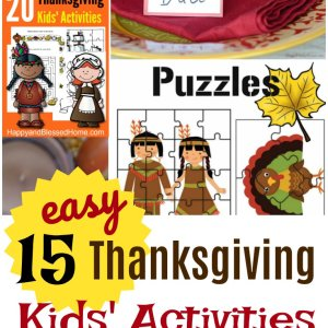 15 Easy Thanksgiving Kids Activities and Crafts