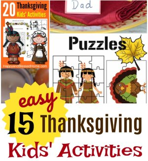 Sq 15 FREE and Easy Thanksgiving Kids Activities and Crafts