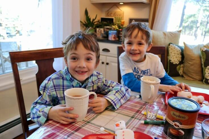5 Build a Snowman Activities Printable Pack and Two Brothers who Loce Hot Cocoa- Photo Copyright 2017 HappyandBlessedHome.com