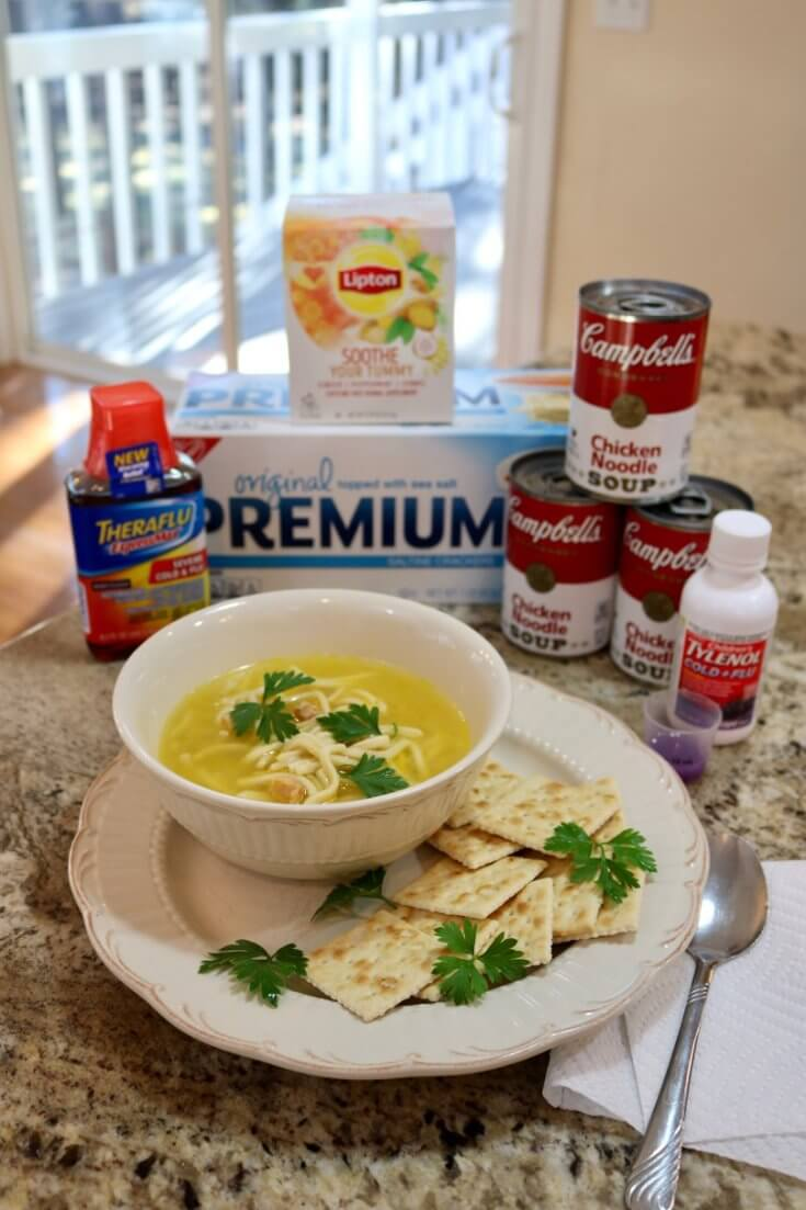 Chicken Noodle Soup and 15 Sick Day Activities for Kids Rectangle is a perfect way to salvage a sick day