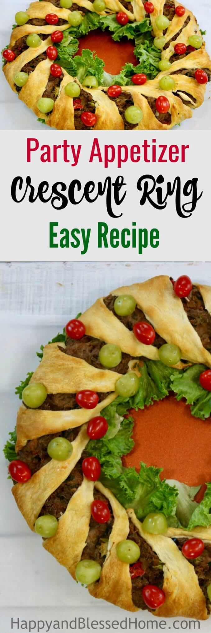 Easy Recipe Crescent Ring Party Appetizer - perfect for entertaining