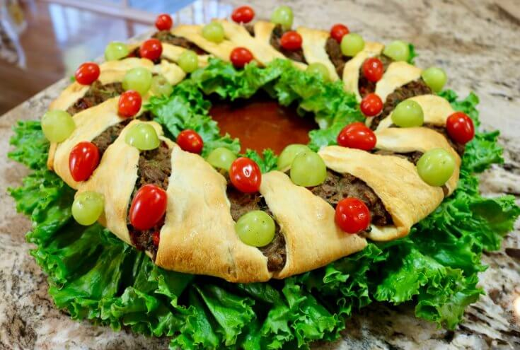Loaded with Veggies - Easy Vegetarian Crescent Ring Recipe and Party Appetizer