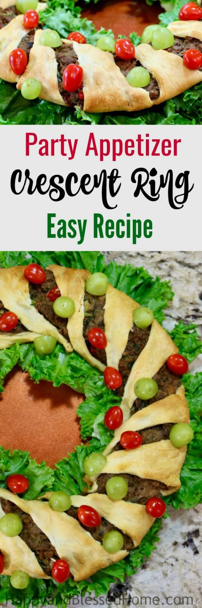 Party Appetizer Crescent Ring Easy Recipe