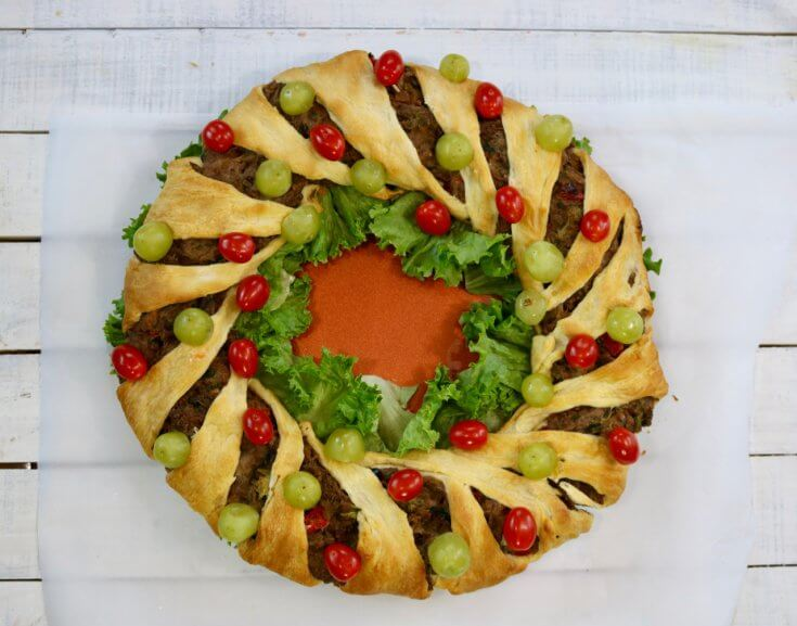Simple yet elegant - Easy Vegetarian Crescent Ring Recipe and Party Appetizer