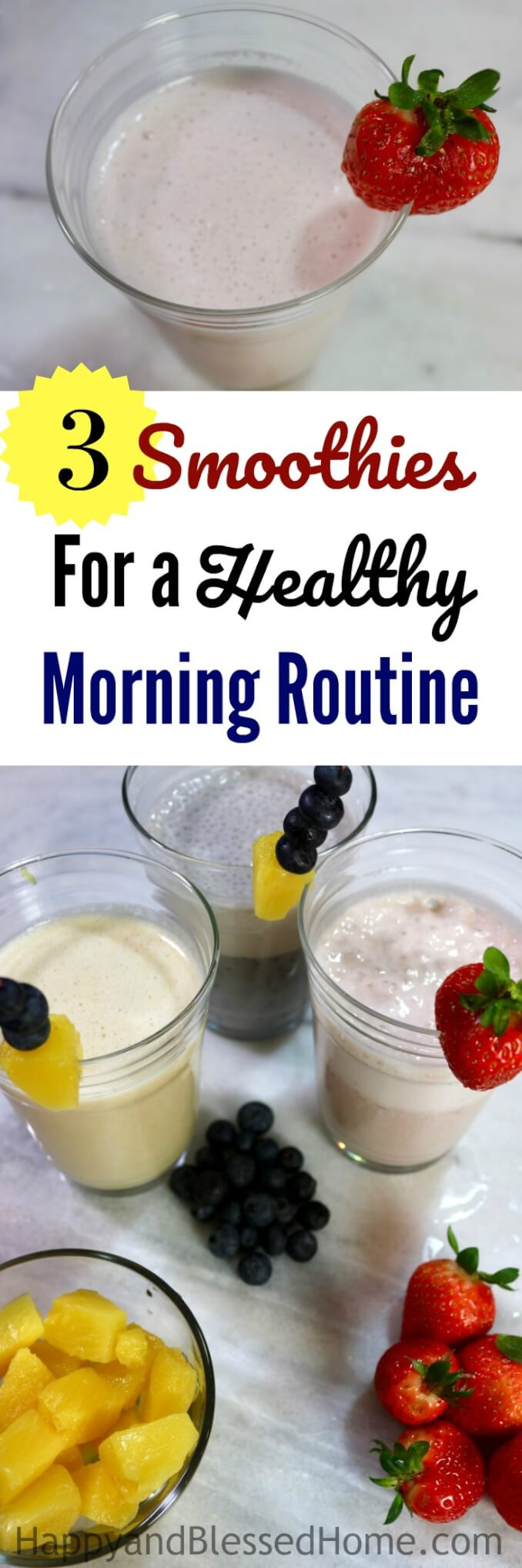 Mornings can be a little crazy. Now that my eldest is back in school, there are times when I barely have time to get myself dressed and ready for the day. Which is why I LOVE these 3 Easy Smoothie Recipes For A Healthy Morning Routine. Pineapple, strawberries, blueberries, and dairy-free milk and yogurt? Yes - please! Ad #ProgressIsPerfection #CBias