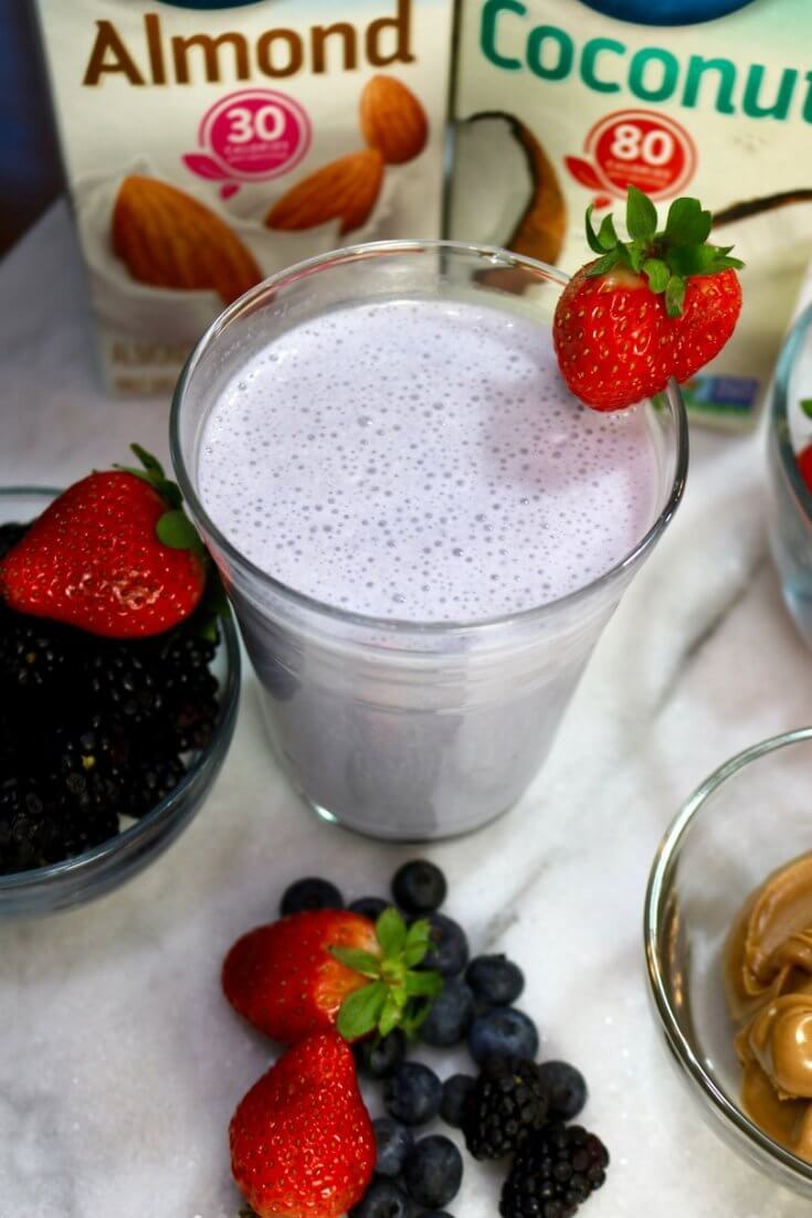 A berry shake for a healthy morning breakfast