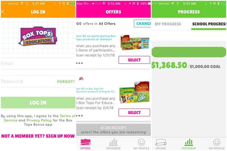 Box Tops for Education App - help raise money for your school