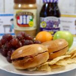 Don't miss the simplicity - FREE Lunchbox Notes for Kids and a New Peanut Butter and Jelly Bagel Sandwich