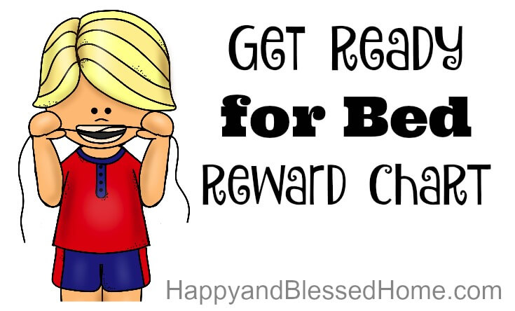 Get Ready for Bed Reward Chart Horizontal