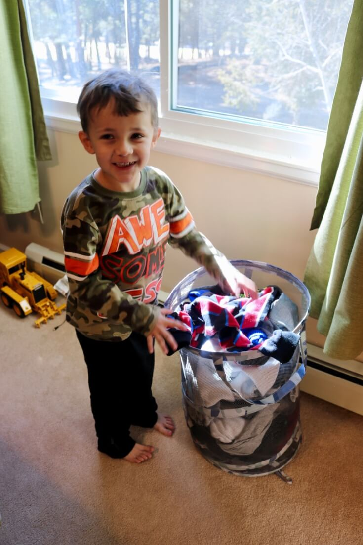 Getting kids to help is step one in How to Implement an Easy-to-Follow Laundry Routine