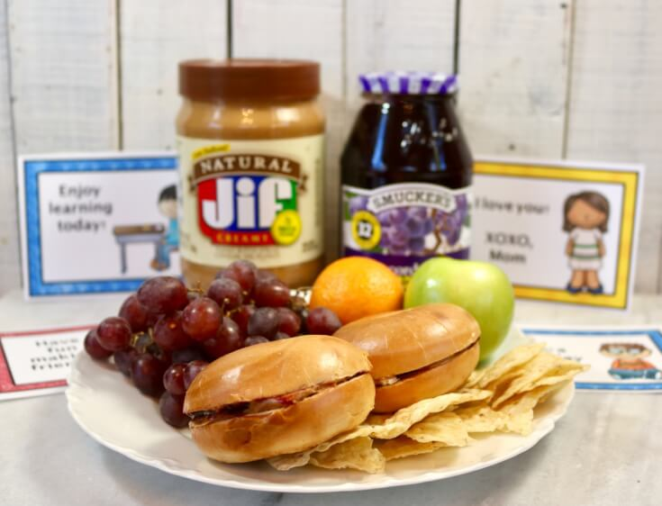Packed with great taste! FREE Lunchbox Notes for Kids and a New Peanut Butter and Jelly Bagel Sandwich