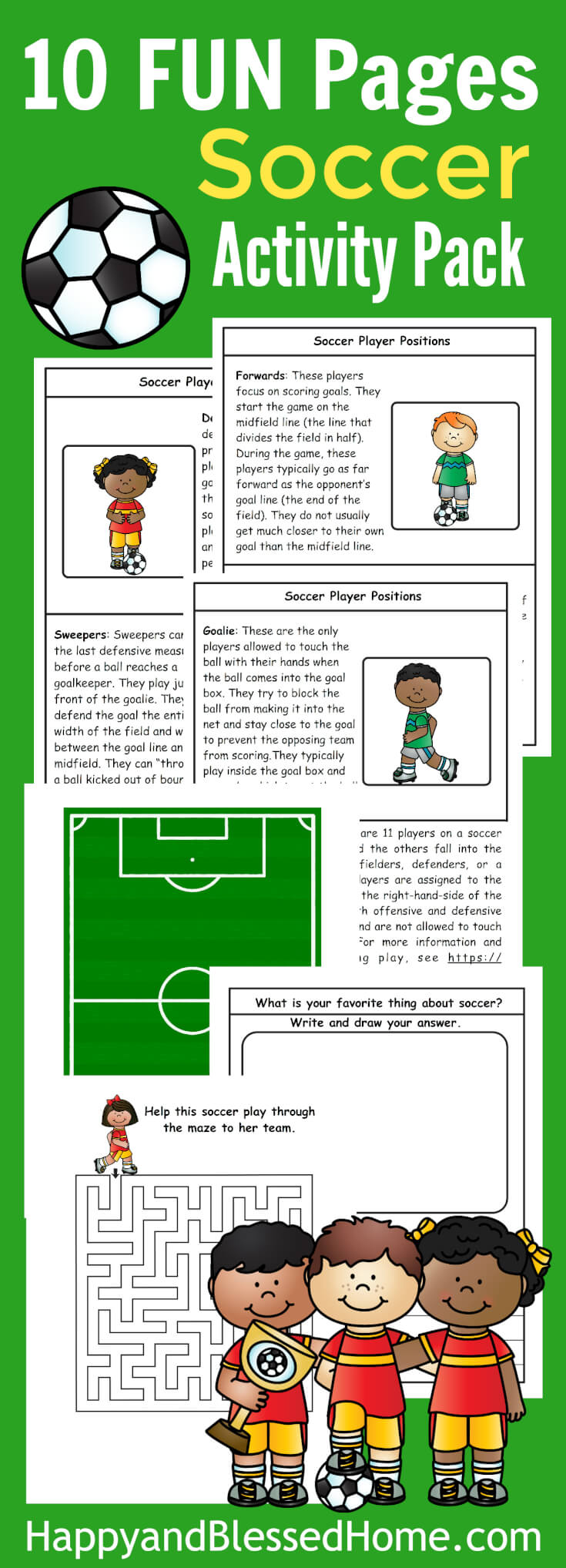 10 FUN Pages Soccer Activity Pack